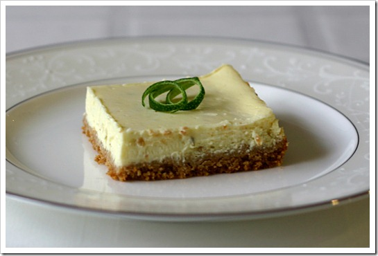 Cheesecake-Style Lime Squares