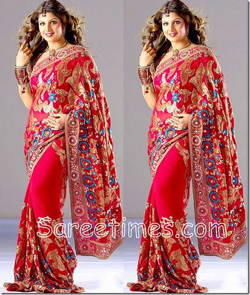 Rambha_Embroidery_Saree