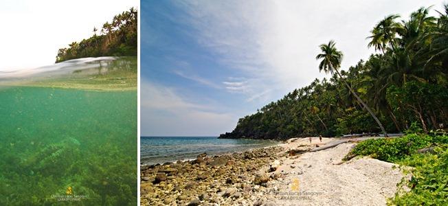 Malabiga Beach in Barangay Togong, Banton