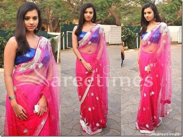 Priyanka_Pink_Embroidery_Net_Saree