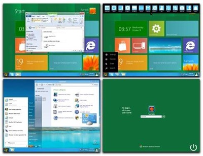 Convert Windows XP into Windows 8 - 8 skin pack