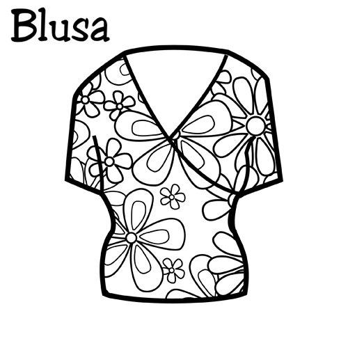 Blusa para colorear infantil - Imagui