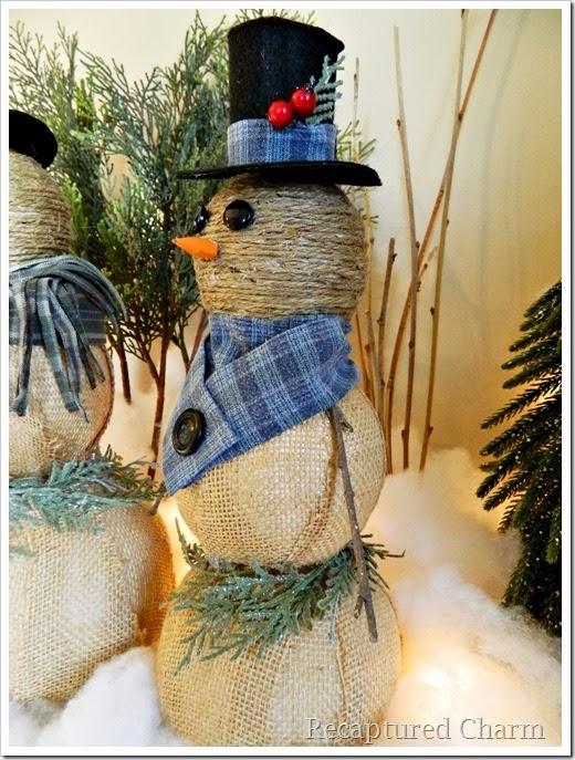 burlap & twine snowmen45