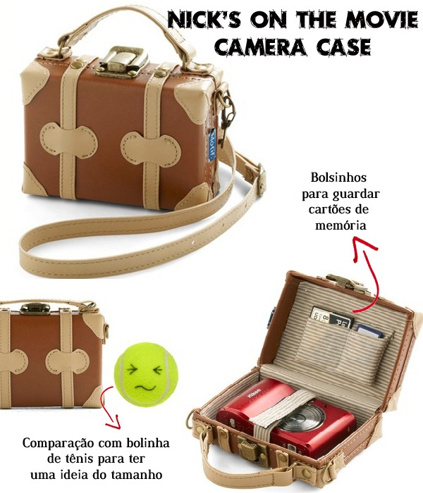 Nick's-on-the-movie-camera-case-Estojo-Guardar-Câmera-Digital-Mala-Viagem