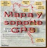 Mapa y soporte GPS - Castro de Gazteluzar - Mañeru - Cirauqui