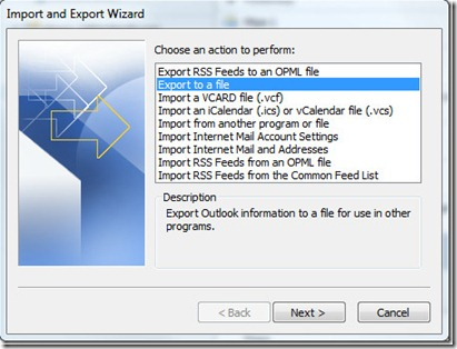 How To Use Import And Export In Outlook 2010 7