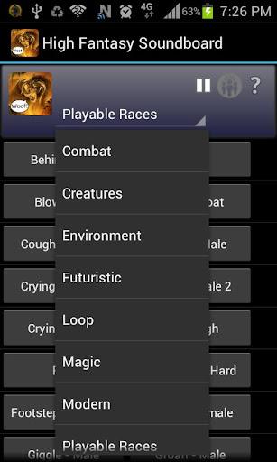 High Fantasy Soundboard Prem. - screenshot
