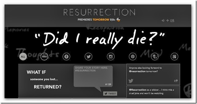 Death - ABC - Resurrection TV Series
