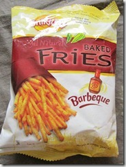 all natural barbecue baked fries, 240baon