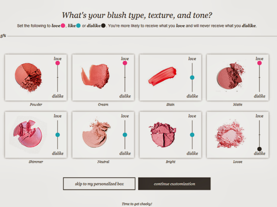 Wantable Blush Preferences