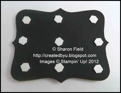 add 9 single layer dots to back of top note die cut