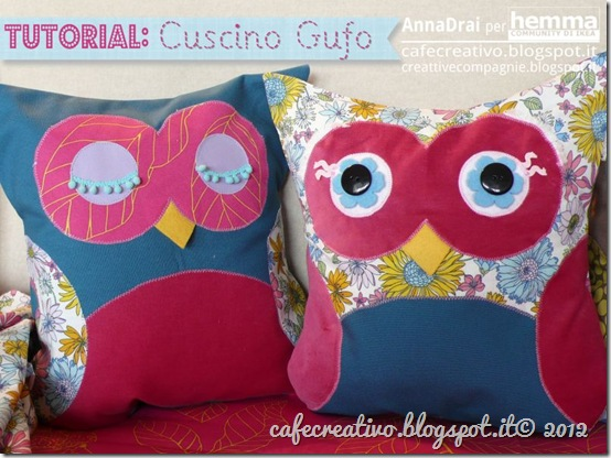 tutorial- cuscino gufo