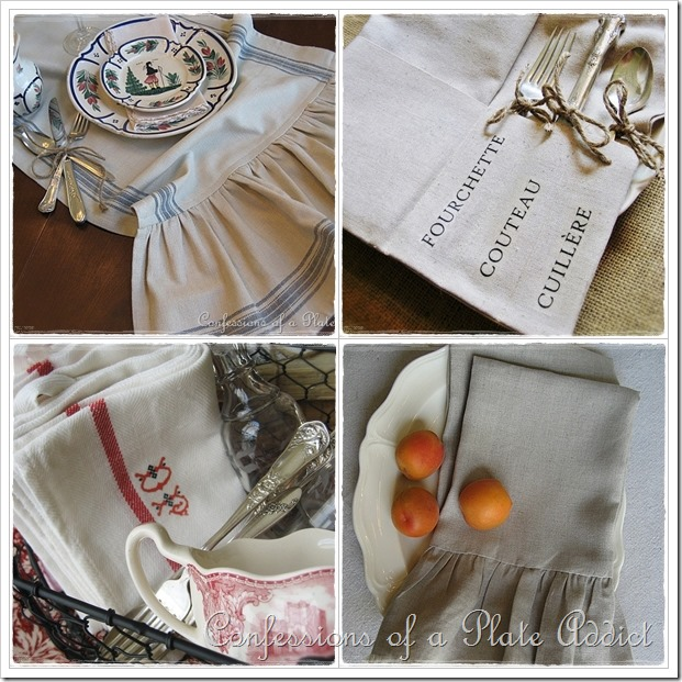 CONFESSIONS OF A PLATE ADDICT DIY French Linens