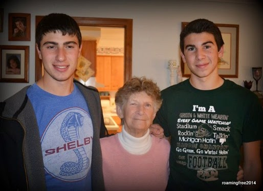 The boys with Grandma