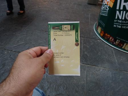 Obiective turistice Dublin: bilet intrare Jameson
