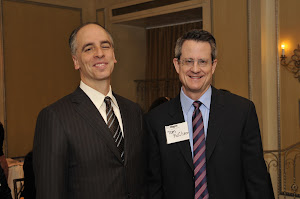 NYU Wagner Associate Dean Rogan Kersh with Tim McClimon from the US Conference of Mayors