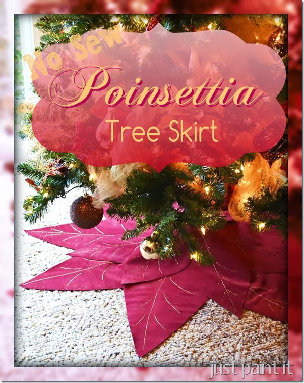 NoSew Poinsettia-Tree-Skirt