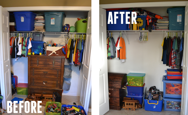 Closet Before & After with #RubbermaidAllAccess