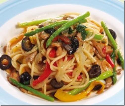 香蒜彩椒鮮菇蔬菜麵