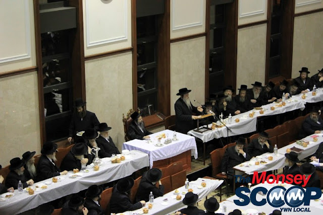 Yartzheit Tish For Stamar Rebbe Held In Satmar Beis Medrash Of Monsey (Photos by Moshe Lichtenstein) - IMG_5482.JPG