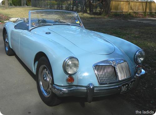 Vintage Blue Car 1