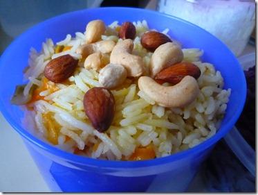 El arroz indio para llevar