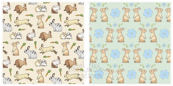 2014 May 12 Spoonflower fabric designs rabbit bunnies
