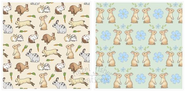 2014 May 12 Spoonflower fabric designs rabbit bunnies