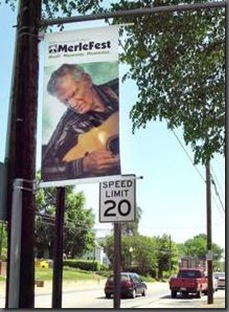 Town of Wilkesboro puts Old MerleFest Banners On Sale to the Public