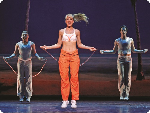 Erika Heynatz as Brooke skipping in LEGALLY BLONDE (c) Jeff Busby