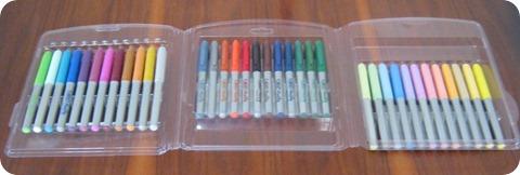 Marcadores de colores doodle arte