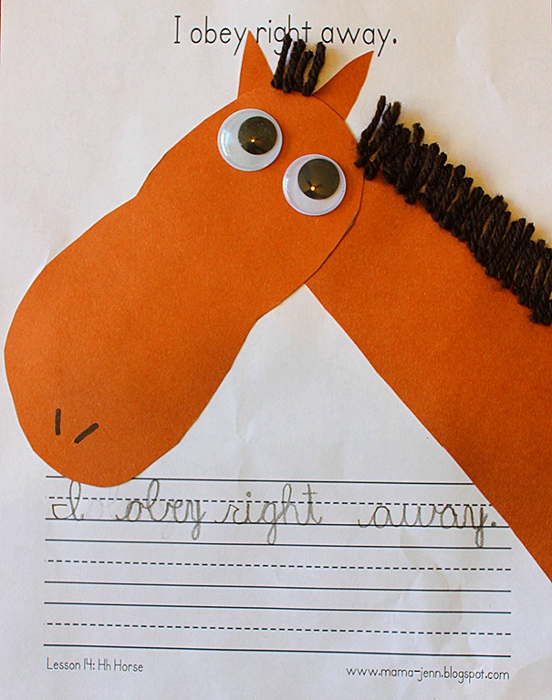 My Father&#39;s World Kindergarten Words to Remember: Hh for Horse
