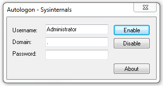 Autologon - Sysinternals
