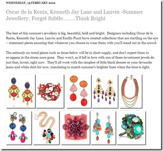 Summer Jewellery - Think Bright