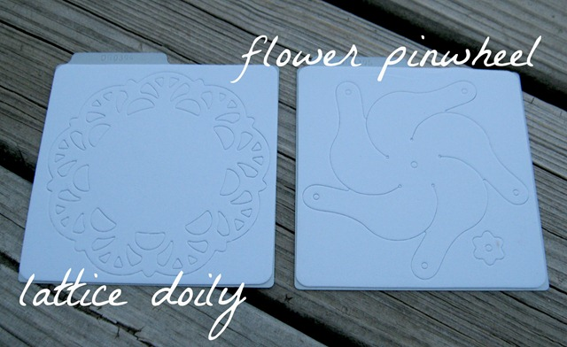 lattice doily & flower pinwheel dies