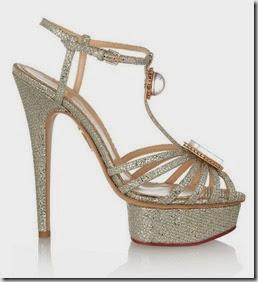 Charlotte Olympia Glitter Finish Sandals