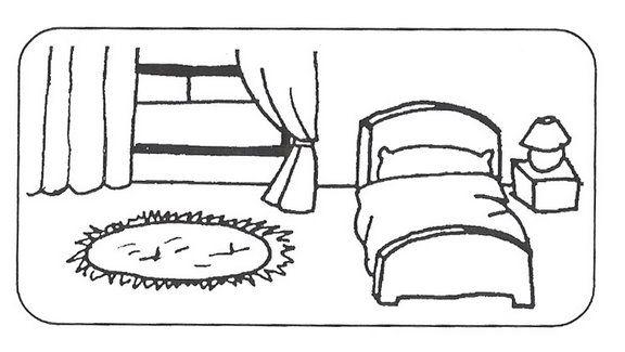 La casa infantil dibujos for Habitacion dibujo