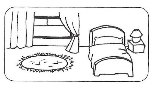 Dormitorio para colorear - Imagui