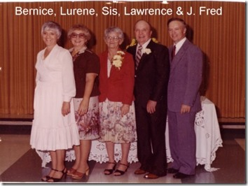 Bernice, Lurene, Sis, Lawrence & Fred: Johnston