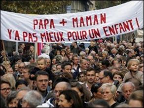 França anti casamento gay Manifestação