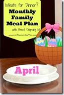 Meal Planner - April