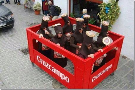 disfraz de caja de cerveza