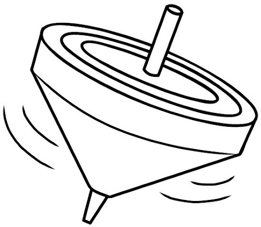 Dibujos para colorear del trompo de los alimentos en educación ...