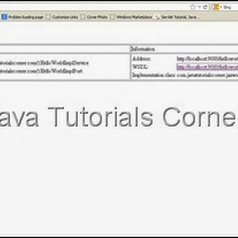 JAX-WS Hello World Web service – RPC Style