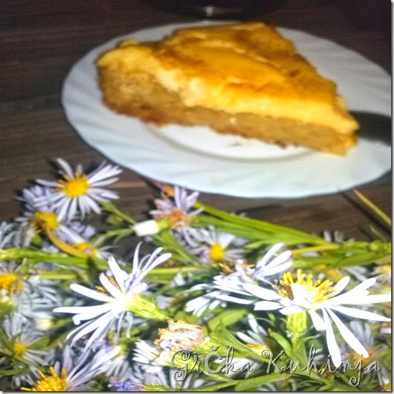 kolač sa grizom, prelivom i kremom 1