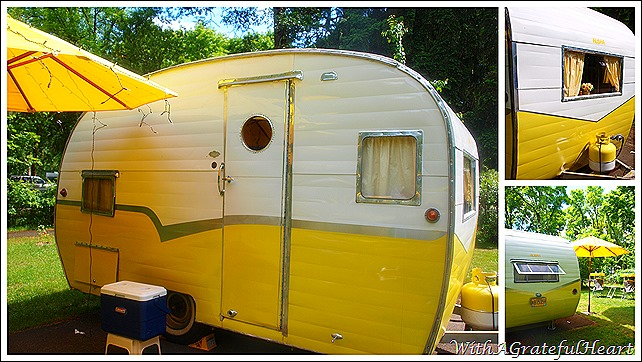 Yellow Vintage Trailer