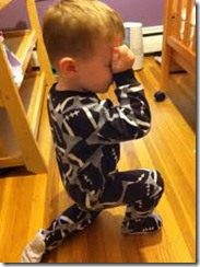 LittleBoyTebowing