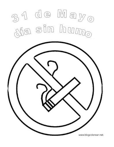 Dibujos para colorear día sin tabaco - Actividades para niños ...
