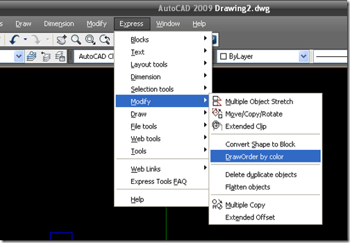 autocad how to set draw order