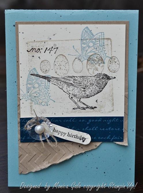 natures walk collage stamping_